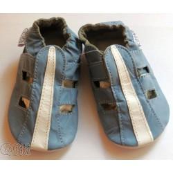 Kožené capačky Capiki - modré sandálky