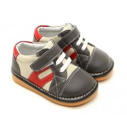 Kožené topánky Freycoo - Adrián sivé