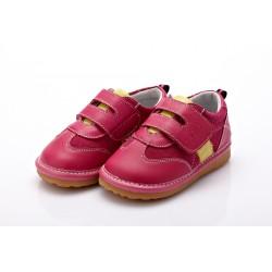 YXY - detská kožená obuv - Sabrina tmavoružové