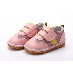 YXY - detská kožená obuv - Sabrina svetloružové