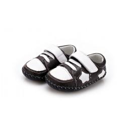 YXY - Topánky s koženou podrážkou Star -hnedé