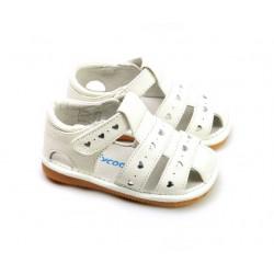 Kožené sandále Freycoo - Molly biele
