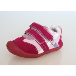 Topánky Rose et Chocolate Soft Stepz - Suede Fuchsia Trainers