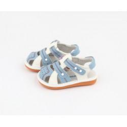 Kožené sandále Freycoo - Marcel svetlomodré