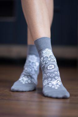 Barefoot ponožky Folk - sivé