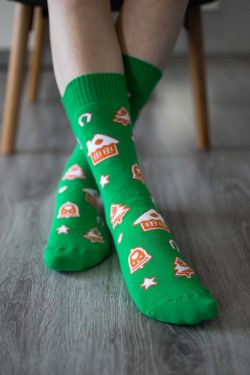 Zimné barefoot ponožky - Perníček