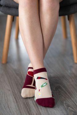 Barefoot ponožky krátke - Víno
