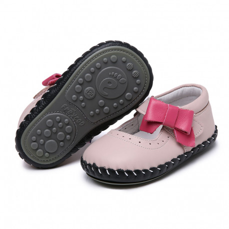 Topánky Freycoo s koženou podrážkou Liliana ružové