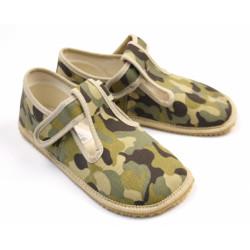 Beda - barefoot papučky W - army