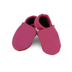 Kožené capačky Afelo - ružové - jednofarebné