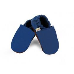 Kožené capačky Afelo - modré - jednofarebné
