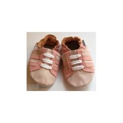 Kožené capačky Capiki - ružové tenisky