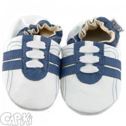Kožené capačky Capiki - modrobiele tenisky