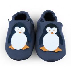 Kožené capačky Afelo - tučniak - tmavomodré