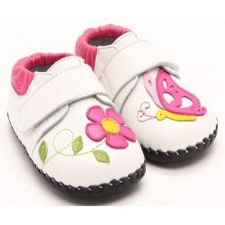 Topánky Freycoo s koženou podrážkou Karina - krémové