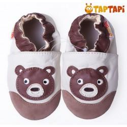 Kožené capačky TapTapi - medvedík