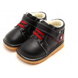 Freycoo - teplé kožené topánky - Ľuboš - čierne