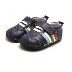 Topánky Freycoo s koženou podrážkou Izzy modré