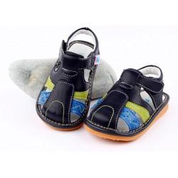 Kožené sandále Freycoo - Parker tmavomodré