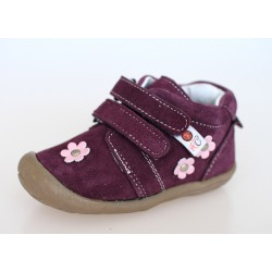 Topánky Rose et Chocolate Soft Stepz - Suede Flower Purple