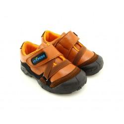 Freycoo - kožené topánky - Denis oranžové