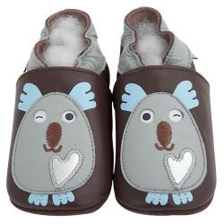 Kožené capačky Lait et Miel - koala