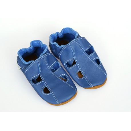 Kožené capačky Tomar - sandálky - jednofarebné - denim