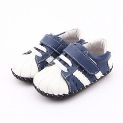 Topánky Freycoo s koženou podrážkou Bob - modré
