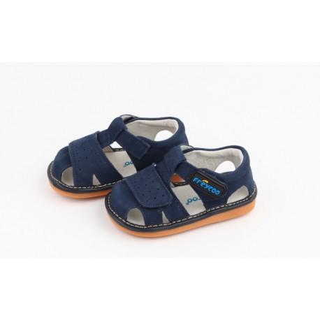 Kožené sandále Freycoo - Filip tmavomodré