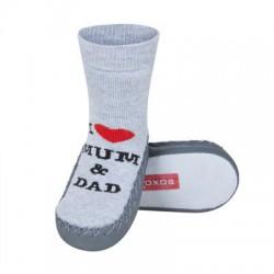 Ponožky s koženou podrážkou - I love mum and dad 19-21