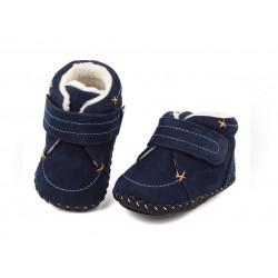Freycoo - čižmičky s koženou  podrážkou Quinn modré