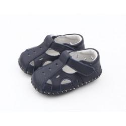 Sandálky Freycoo s koženou podrážkou Florián - tmavomodré