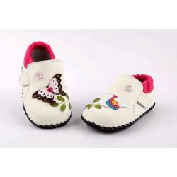 Topánky Freycoo s koženou podrážkou Vesna krémové