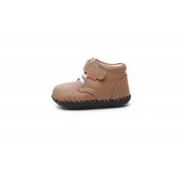Freycoo - zateplené topánky s koženou podrážkou Taylor hnedé